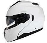 Casque Modulable Pare Soleil Interne Moto Scooter - Blanc - M (57-58cm)