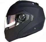 Casque Modulable Pare Soleil Interne Moto Scooter - Noir Mat - M (57-58cm)