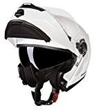 Casque Modulaire Helmet Helme Double Visière Bayard FP 30S Blanc TG L