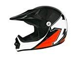 Casque moto cross enfant TNT X2 - Noir / Orange - Taille S