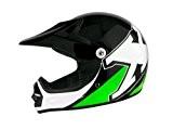 Casque moto cross enfant TNT X2 - Noir / Vert - Taille S
