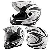 Casque Motocross Moto Enduro Offroad Quad ATV Visière Anti Buée Noir XL