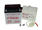Citomerx Batterie avec acide 12 V 11 Ah Équivalent YB10L-B2 pour Piaggio Vespa Beverly 125, 200, Carnaby, GT 125L, Hexagon, ...