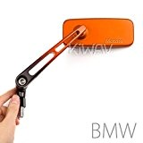 Classique MX orange rectangular rétroviseurs 10mm 1.5pitch moto BMW
