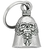 Clochette Skull ailé porte-bonheur moto Guardian Bell