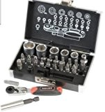 Coffret de jeu à clés à douilles en pouces Mallette à outils pour Harley Davidson, Sportster, Dyna, Softail, Norton, BSA, ...