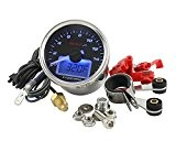 Compte-tours KOSO GP Style II Digital Rond Bleu 16000RPM