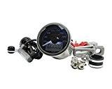 Compteur de vitesse KOSO Eclipse Style analogique / digital Rond chromé 260km/h