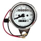 compteur de vitesse pour moto - SODIAL(R)Compteur de vitesse mini electronique pour moto avec veilleuse et odometre