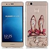 Coque pour Huawei P9 Lite, Etui pour Huawei P9 Lite, Cozy Hut® Transparente Ultra Mince Souple TPU Silicone Avec talons ...
