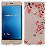 Coque pour Huawei P9 Lite, Etui pour Huawei P9 Lite, Cozy Hut® Transparente Ultra Mince Souple TPU Silicone Avec Maple ...