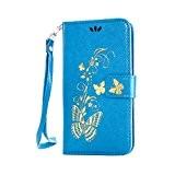 Coque pour LG G3 Mini ,Housse en cuir pour LG G3 Mini,Cozy Hut Bronzante Papillon Fleur imprimé étui en cuir ...