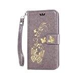 Coque pour LG Stylus 2 LS775 ,Housse en cuir pour LG Stylus 2 LS775,Cozy Hut Bronzante Papillon Fleur imprimé étui ...