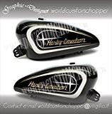 Couple Stickers étoile Harley Davidson de réservoir moto Custom