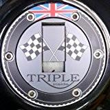 Couvercle de réservoir Pad Tankpad Triumph Sprint St RS GT 9551050Speed Triple Street Triple 675Daytona 955i T595Speed Four 600650Rocket Classic ...