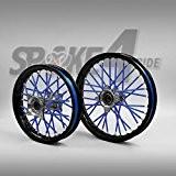 Couvre rayon - Bleu Spoke Skins Protège rayon Motocross Enduro Jante Roue