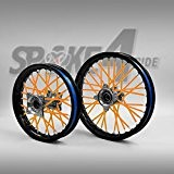 Couvre rayon - Orange Spoke Skins Protège rayon Motocross Enduro Jante Roue