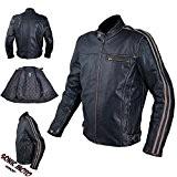 Cuir Blouson Moto Veste Vintage Style Thermique Protections CE S