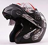 Double Visières Noir mat Jet avant à rabat jusqu'Moto Vespa complet/Casque modulaire à visage ouvert