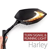 """Dual LED rétroviseurs moto Lucifer clignotants + feux position 5/16"""" pour Harley (paire)ε"""