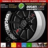 Ducati Monster Multistrada Hypermotard intérieur bandes adhésives Roues cercle décalcomanies strip bandages Cod. 0227 couleur unique 010 Bianco