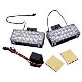 Eclairage de secours - TOOGOO(R)2 x 22 LED Eclairage de secours de voiture Lampe Flash stroboscopique de Grill 12V Rouge