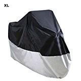 EMEBAY - Housse Couverture Couvre Cache de Protection Étanche Anti UV pour Moto Noir XL environ 245 x 105 x ...