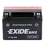 Exide/Fulmen YTX9-BS Batterie de moto - avec Acide
