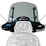 FACO Pare Brise Sport Fume Adaptateur Vespa Sprint Kit Montage, Chrome