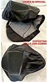 Fourreaux Couverture pour selle Vespa 50Special-Couleur: Noire