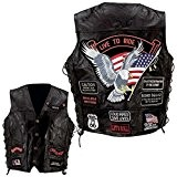 GILET CUIR BIKER LIVE TO RIDE TAILLE XL