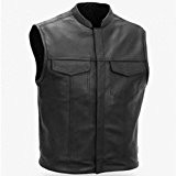 GILET CUIR NOIR BIKER Sons of anarchy:Choppers TAILLE 3XL