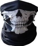 GODHL crâne squelette demi visage masque Bandana Col écharpe Rave masque noir