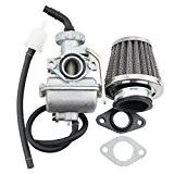 GOOFIT 16mm Carburateur avec filtre à air pour 70cc 50cc 90cc Dirt Bike ATV Dirt et Go Kart