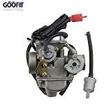 GOOFIT 42mm Filtre à air et moto PD24J 24mm Carburateur collecteur d'admission GY6 125 CC 150CC Go Kart cyclomotoristes