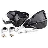 goofit Brosse manuelle de moto Noir Guidon Disque de protection ajustable de protection pour ATV de roller Karting