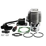 GOOFIT Culasse Cylindre L7T Spark Kit Plug-Bobine d'allumage 44mm Piston pour ATV 49cc et Pocket Bike