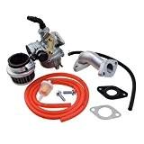 GOOFIT PZ19 Carburateur avec filtre à air Carburateur Rebuild Kit pour Honda XR / CRF 50cc 70cc 90cc 110cc 125cc ...