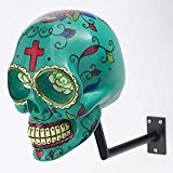 H-SKULL Support pour casque tête de mort. (MEXICAN TURQUOISE)
