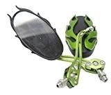 HoneyHome Rétroviseurs Pour Scooter Moto Voiture 1 Paire ( Droit + Gauche) Sauvegarde Miroir Réglable-Vert