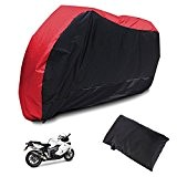 Housse Bache MOTO Couvre-Moto scooter Taille XL 225cm Rouge Noir impermeable