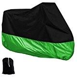 Housse Couverture De Moto De Protection Imperméable Extérieures XXL - Noir Vert