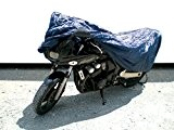 IMDIFA 081 Housse Moto, Bleu Foncée, Taille M