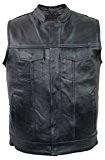 Jeans Gilet en cuir en cuir de vachette véritable