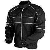 Juicy Trendz Veste Moto Blouson En Cordura Motorcycle Imperméable Jacket Black