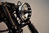 Kamikaze Grille ajournée pour phare avant Harley Davidson Sportster Noir