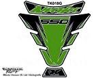 KAWASAKI Ninja 650/650R 2006-2014Vert de réservoir pour moto Tankpad Protection d'écran motografix Gel 3D Protection tk018g