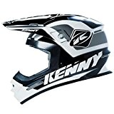 KENNY - Casque Cross Track Noir Blanc Gris Xs 53/54 Cm