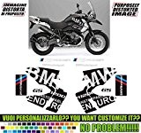 Kit adesivi decal stickers BMW R1200 GS 2008 2012 REPLICA ENDURO POWER (ability to customize the colors)