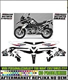 Kit adesivi decal stickers BMW R1200 GS LC 2013 REPLICA WORLD (ability to customize the colors)